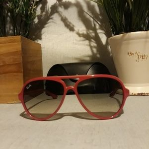 Rayban dark pink unisex sunglasses